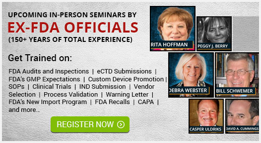 Seminars by Ex-FDA Officials
