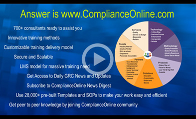 ComplianceOnline TV Innovative training methods Customizable training delivery model