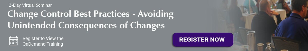 Change Control Best Practices