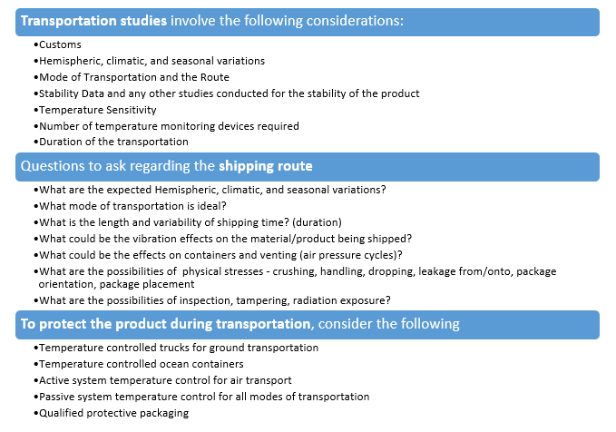 Transportation Prerequisites