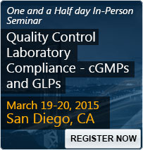 Quality Control Laboratory Compliance - cGMPs and GLPs - 80085SEM