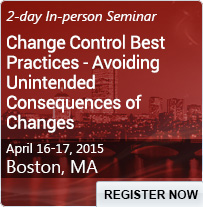 Change Control Best Practices - Avoiding Unintended Consequences of Changes - 80244SEM