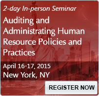 Auditing and Administrating Human Resource Policies and Practices - 80024SEM