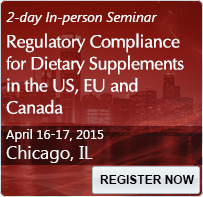 Regulatory Compliance for Dietary Supplements in the US, EU and Canada - 80100SEM
