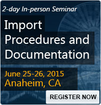 Import Procedures and Documentation - 80287SEM