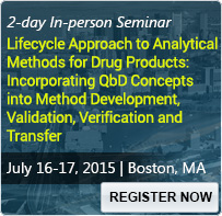 Lifecycle Approach to Analytical Methods for Drug Products: Incorporating QbD Concepts into Method Development, Validation, Verification and Transfer - 80236SEM