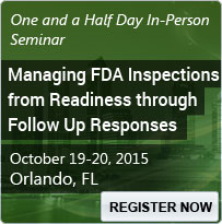 Managing FDA Inspections from Readiness through Follow Up Responses - 80156SEM