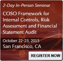 COSO Framework for Internal Controls, Risk Assessment and Financial Statement Audit - 80225SEM