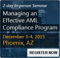 Managing an Effective AML Compliance Program - 80114SEM