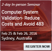 Computer System Validation- Reduce Costs and Avoid 483 - 80175SEM