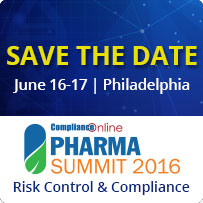 ComplianceOnline Pharma Summit 2016 – Risk Control and Compliance - 80332SEM