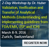 Validation, Verification and Transfer of Analytical Methods (Understanding and implementing guidelines from FDA/EMA, USP and ICH) - 80328SEM