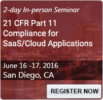 21 CFR Part 11 Compliance for SaaS/Cloud Applications - 80202SEM