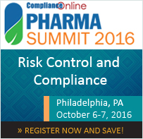 ComplianceOnline Pharma Summit 2016 – Risk Control and Compliance