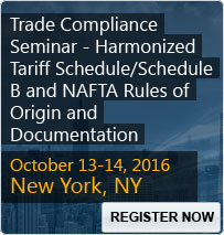 Trade Compliance Seminar - Harmonized Tariff Schedule/Schedule B and NAFTA Rules of Origin and Documentation - 80168SEM
