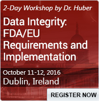 Data Integrity: FDA/EU Requirements and Implementation - 80421SEM