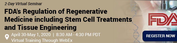 FDA's Regulation of Regenerative Medicine including Stem Cell Treatments