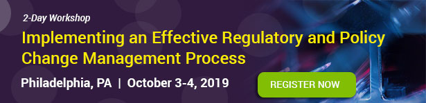 Regulatory and Policy Change Management Process