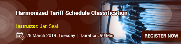 Harmonized Tariff Schedule Classification