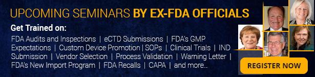 Seminars by Ex-FDA Officials