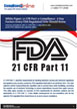 White Paper: 21 CFR Part 11 Compliance