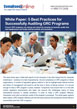 White Paper: Innovation for Compliance Management