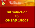 Intro to OHSAS 18001 Presentation Materials