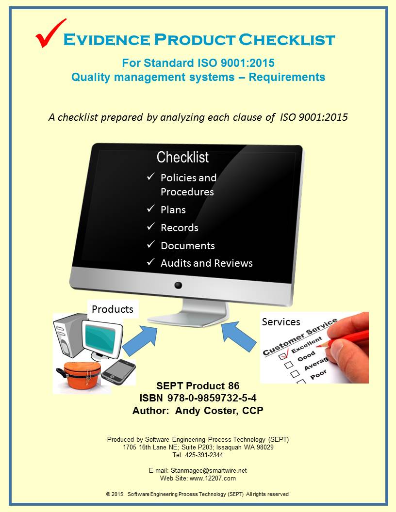 ISO 9001:2015 ''Quality Management Systems - Requirements 2015 Edition''